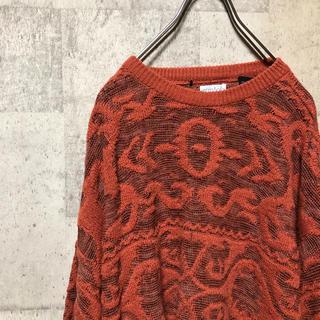 アートヴィンテージ(ART VINTAGE)のイタリア製 総柄3Dニットセーター デザイン アート old vintage(ニット/セーター)