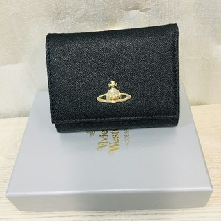 Vivienne Westwood - ヴィヴィアンウエストウッド 財布 二つ折財布 人気 ブラック