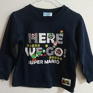シマムラ(しまむら)のしまむら☆スーパーマリオブラザーズ トレーナー 110㎝ ネイビー(Tシャツ/カットソー)
