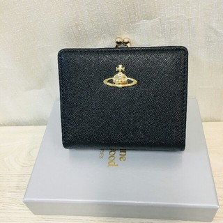 Vivienne Westwood - ヴィヴィアンウエストウッド 二つ折財布 がま口財布 ブラック