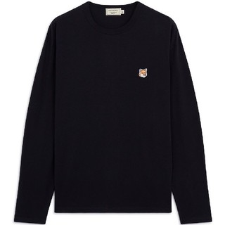 メゾンキツネ(MAISON KITSUNE')の人気MKメゾンキツネ黒 長袖Tシャツ サイズXL(Tシャツ(長袖/七分))