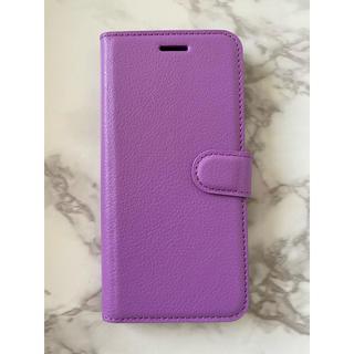 ギャラクシー(Galaxy)の人気商品!シンプルレザー手帳型ケース GalaxyS10  パープル 紫(Androidケース)