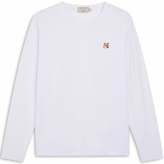 メゾンキツネ(MAISON KITSUNE')の人気MKメゾンキツネ白 長袖Tシャツ サイズS(Tシャツ(長袖/七分))