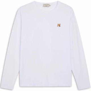メゾンキツネ(MAISON KITSUNE')の人気MKメゾンキツネ白 長袖Tシャツ サイズL(Tシャツ(長袖/七分))