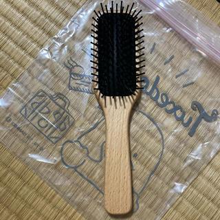 ムジルシリョウヒン(MUJI (無印良品))の無印良品 ブナ材ヘアブラシ 全長約20cm(ヘアブラシ/クシ)