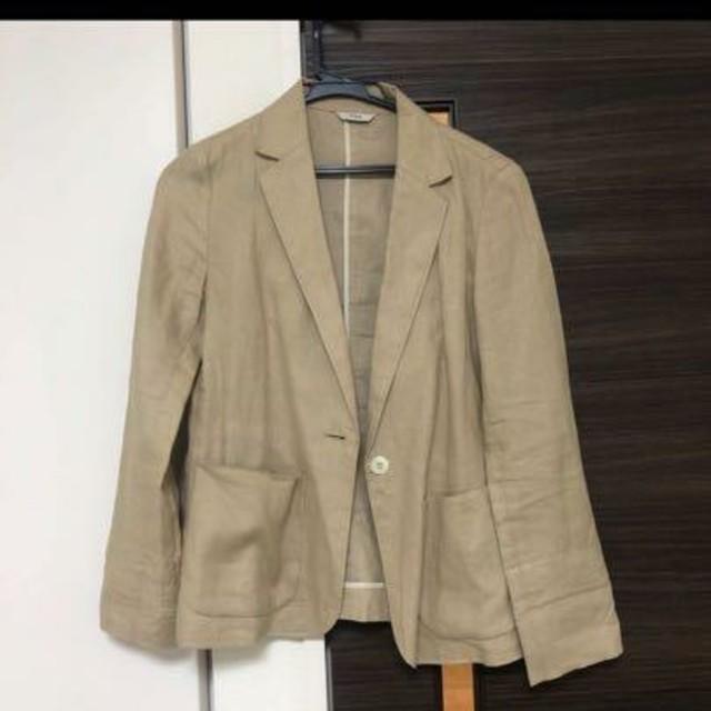 IENA(イエナ)の【IENA】テーラードジャケット           (ベージュ:36) レディースのジャケット/アウター(テーラードジャケット)の商品写真