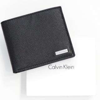 Calvin Klein - 新品 カルバンクライン 二つ折り 財布 札入れ コインケース メンズ ブラック
