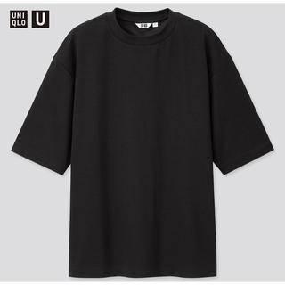 UNIQLO - 【UNIQLO】ユニクロ エアリズムコットン オーバーサイズ Tシャツ(五分袖)