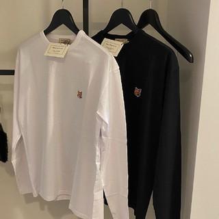 メゾンキツネ(MAISON KITSUNE')の人気MKメゾンキツネ白 黒 長袖Tシャツ 2点セット サイズS(Tシャツ(長袖/七分))
