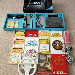 Wii - Nintendo Wii RVL-S-KAAH ソフト リモコン セット