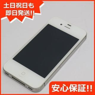 アップル(Apple)の美品 au iPhone4S 16GB ホワイト 白ロム(スマートフォン本体)