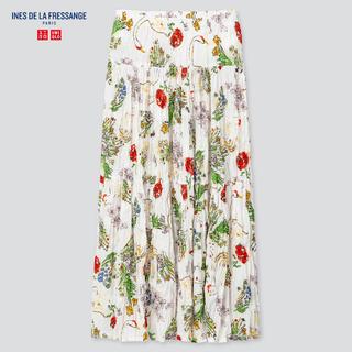 ユニクロ(UNIQLO)のUNIQLO WOMEN ツイストプリーツ ロングスカート S(ロングスカート)