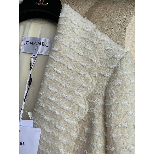 CHANEL(シャネル)のCHANEL CC ウール ツイード スカラップ襟 ジャケット レディースのジャケット/アウター(テーラードジャケット)の商品写真