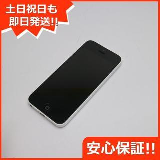 アップル(Apple)の美品 au iPhone5c 16GB ホワイト 白ロム(スマートフォン本体)