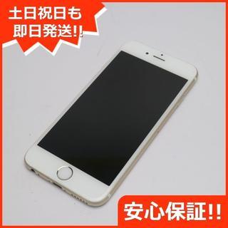 アップル(Apple)の美品 au iPhone6 64GB ゴールド 白ロム(スマートフォン本体)