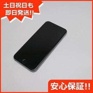 アップル(Apple)の美品 au iPhone6S 16GB スペースグレイ 白ロム(スマートフォン本体)