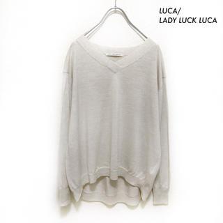 ルカ(LUCA)のLUCA/LADY LUCK LUCA★長袖ニット セーター Vネック 薄手(ニット/セーター)
