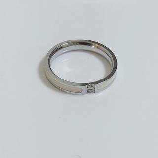 セラミック  指輪 リング ステンレス 白(リング(指輪))