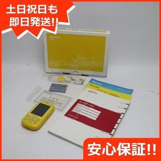 フジツウ(富士通)の美品 F-03J キッズケータイ イエロー (携帯電話本体)