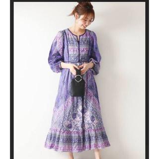 Spick and Span - スピック&スパン ヌキテパ エスニックワンピース紫