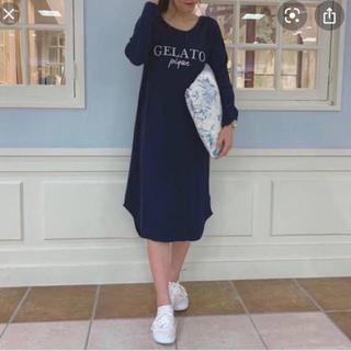 ジェラートピケ(gelato pique)の新品未使用タグ付き☆ジェラートピケ ワッフルロゴ カップインドレス☆(ルームウェア)