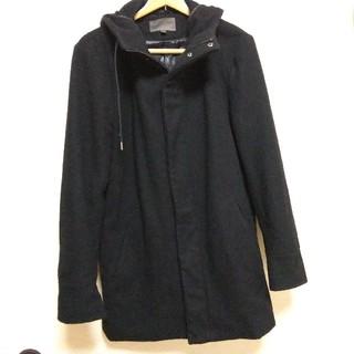 ユニクロ(UNIQLO)のユニクロフード付きコート ブラック(その他)