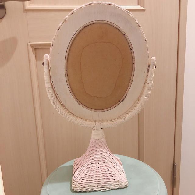 Grimoire(グリモワール)のビンテージ ウィッカー ミラー アンティーク レディースのファッション小物(ミラー)の商品写真