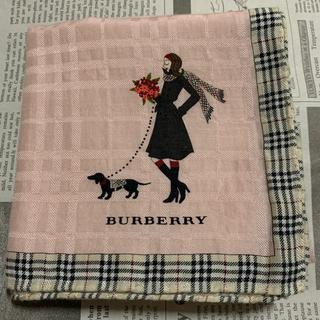 BURBERRY - バーバリー 大判ハンカチスカーフシルク女の子