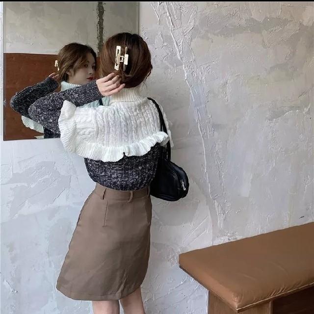 ZARA(ザラ)のレディース 新品 未着用 ニット セーター トップス フリーサイズ 秋冬 長袖N レディースのトップス(ニット/セーター)の商品写真