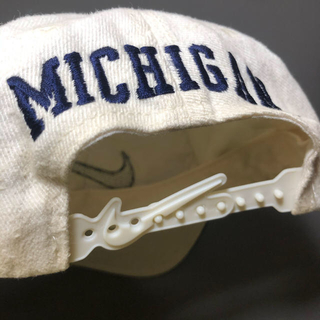 NIKE - '90s NIKE 白タグ MICHIGAN キャップ