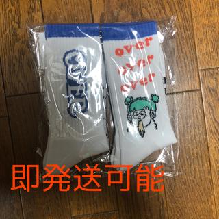 over print×ZERO ZERO HERO ハイソックス 2P  靴下