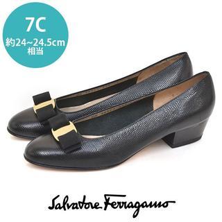 Salvatore Ferragamo - 美品❤️フェラガモ ヴァラリボン パンプス 7C(約24-24.5cm)