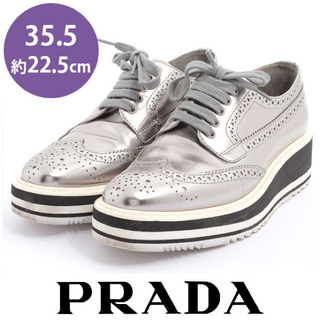 PRADA - 美品❤️プラダ ウイングチップシューズ スニーカー 35.5(約22.5cm)
