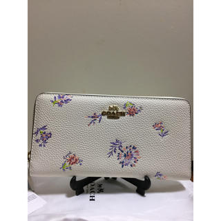 COACH - [新品] 新作 花柄 フローラル ホワイト 白 コーチ/COACH 長財布