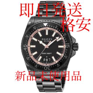 Gucci - 新品 GUCCI ダイヴ メンズ 腕時計 YA136213