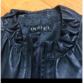 インディヴィ(INDIVI)のインディヴィ レザージャケット(ライダースジャケット)