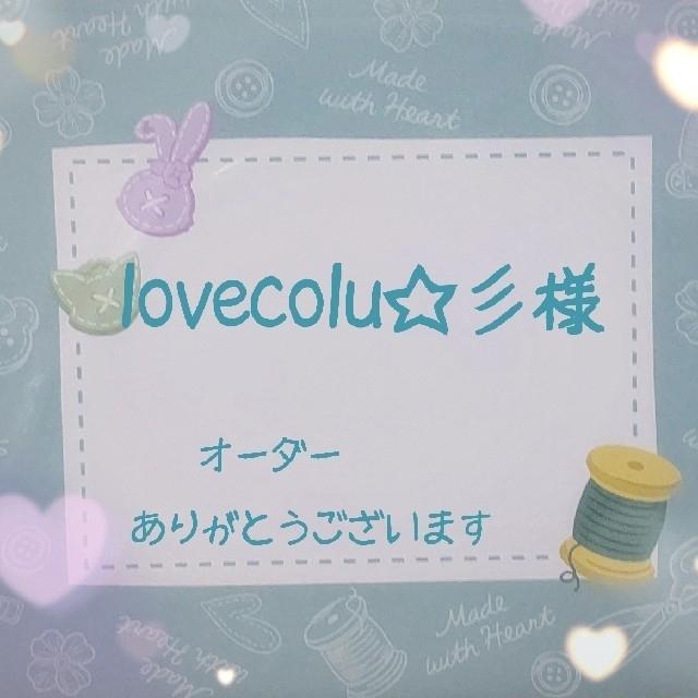ダッフィー(ダッフィー)のlovecolu☆彡様 個別オーダーページ ハンドメイドのキッズ/ベビー(外出用品)の商品写真