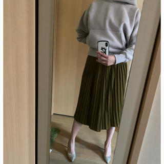 ニットロングプリーツスカート ウール100%(ロングスカート)