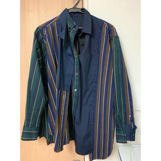 サカイ(sacai)のsacai 18aw アシンメトリードッキングシャツ(シャツ/ブラウス(長袖/七分))