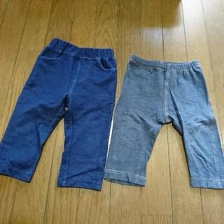 UNIQLO - 100 七分丈パンツ 2枚セット