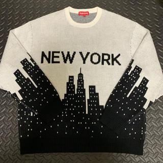 Supreme - SUPREME NEW YORK SWEATER サイズL