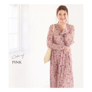 授乳服・マタニティ>カトレア(長袖・裏地付き)カシュクールタイプの授乳口