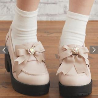リズリサ(LIZ LISA)のリズリサ ♡厚底リボンローファー♡ピンク(ローファー/革靴)