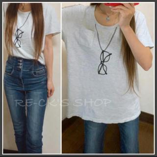 ニッセン(ニッセン)のめがねプリント✰︎ トップス XLサイズ(Tシャツ(半袖/袖なし))