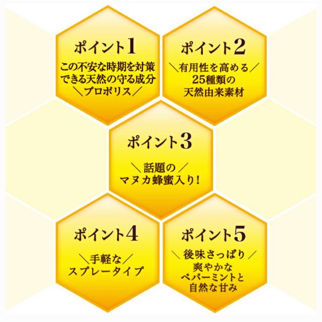 山田養蜂場(ヤマダヨウホウジョウ)の山田養蜂場プロポリススプレー 食品/飲料/酒の健康食品(その他)の商品写真
