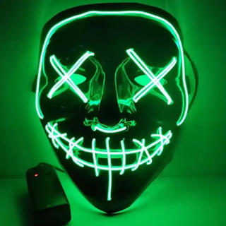 仮面 グリーン マスク お面 Halloween costume グリーン  (小道具)