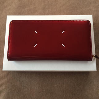Maison Martin Margiela - 新品 メゾン マルジェラ エナメルレザー 長財布 レディース ボルドー 財布