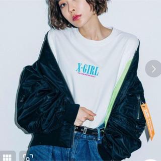 エックスガール(X-girl)の今季完売 X-girl CROPPED L2B JACKET MA-1 サイズ1(ブルゾン)