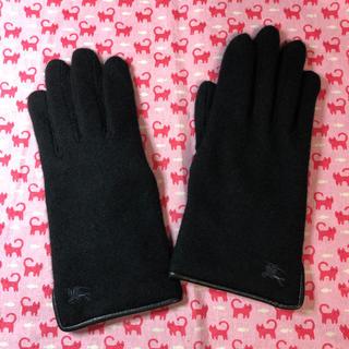 バーバリー(BURBERRY)のバーバリー(BURBERRY)⭐️レディース 手袋⭐️黒(手袋)