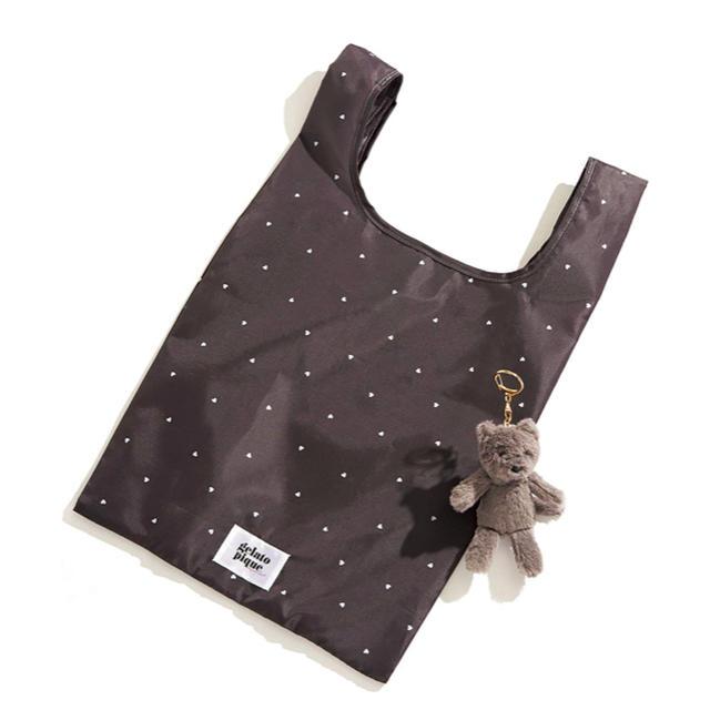 gelato pique(ジェラートピケ)のsweet 10月号 付録 ジェラートピケ お買い物バッグ&キャットチャーム レディースのバッグ(エコバッグ)の商品写真